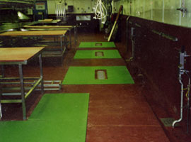 Floor Pads in Production Areas